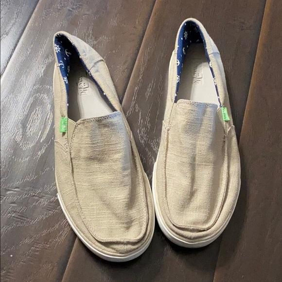 Mens Sanuk Sideline Linen Slip On Shoes
